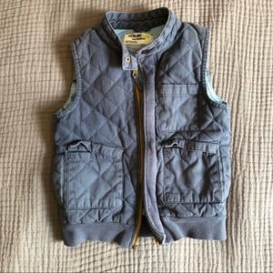 Slate Blue Quilted Vest size 5t